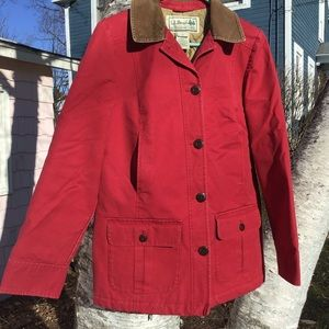 LL Bean Red Barn Coat Insulated